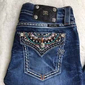 "Miss Me Signature Bootcut Jeans Size 27x33"""
